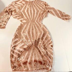 Dresses & Skirts - Open Back Sequin Dress